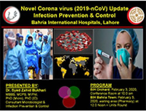 Seminar on awareness of Novel Corona virus (2019-nCoV) at Bahria International Hospital, Orchard Lahore.