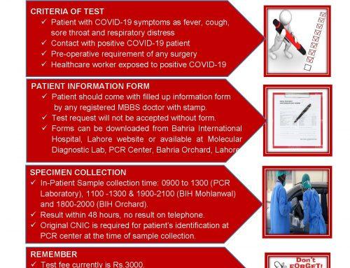 COVID-19 PCR Test SOP & Rates Molecular Diagnostic Lab Orchard